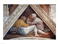 Sistine Chapel Ceiling: The Ancestors of Christ Fine Art Print