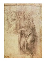 Inv.1895-9-15-516.recto (w.72) Study for the Annunciation by Michelangelo Buonarroti - various sizes