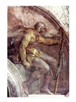 Sistine Chapel Ceiling: One of the Ancestors of God Fine Art Print