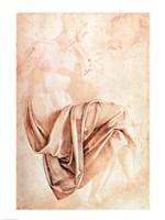 Inv. 1887-5-2-118 Recto (W.10) Study of drapery by Michelangelo Buonarroti - various sizes - $16.49