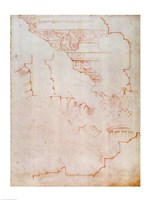Inv. 1859 6-25-560/2. R. (W.19) Drawing of architectural details by Michelangelo Buonarroti - various sizes - $16.49