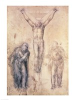Inv.1895-9-15-509 Recto W.81 Study for a Crucifixion by Michelangelo Buonarroti - various sizes - $15.99