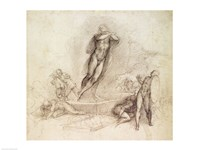 Study for an Ascension by Michelangelo Buonarroti - various sizes