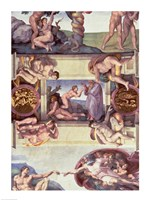 Sistine Chapel Ceiling (1508-12): The Creation of Eve, 1510 Fine Art Print