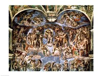 Last Judgement, from the Sistine Chapel, 1538-41 Fine Art Print