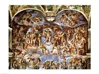 Sistine Chapel: The Last Judgement, 1538-41 Fine Art Print