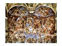 Sistine Chapel: The Last Judgement, 1538-41 Fine Art Print