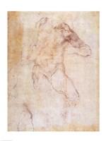 Study of a male nude Fine Art Print