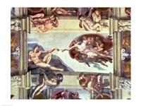 Sistine Chapel Ceiling: Creation of Adam, 1510 B Fine Art Print