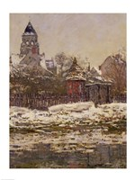 The Church at Vetheuil, 1879 Fine Art Print