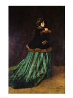 Camille, or The Woman in the Green Dress, 1866 by Claude Monet, 1866 - various sizes