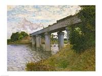 The Railway Bridge at Argenteuil, c.1873-4 Fine Art Print