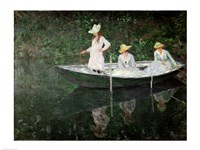 The Boat at Giverny, c.1887 Framed Print