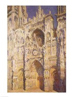Rouen Cathedral in Full Sunlight: Harmony in Blue and Gold, 1894 Fine Art Print