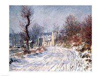 The Road to Giverny, Winter, 1885 Fine Art Print