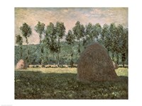 Haystacks near Giverny-89, 1884 by Claude Monet, 1884 - various sizes