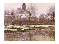 The Church at Vetheuil under Snow, 1878-79 Fine Art Print