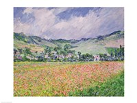 The Poppy Field near Giverny, 1885 Fine Art Print