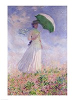Woman with a Parasol turned to the Right, 1886 Framed Print