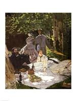 Dejeuner sur l'Herbe, Chailly, 1865 Fine Art Print