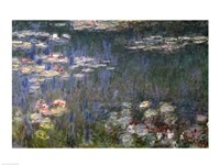 Waterlilies: Green Reflections, 1914-18 (left section) Fine Art Print