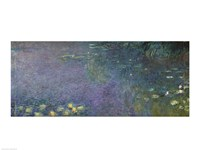 Waterlilies: Morning-18 (centre right section), 1914 by Claude Monet, 1914 - various sizes