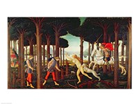 The Story of Nastagio degli Onesti: Nastagio's Vision of the Ghostly Pursuit in the Forest, 1483 or 1487 Fine Art Print
