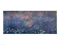 Waterlilies: Two Weeping Willows, centre left section, 1914-18 Fine Art Print
