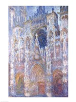 Rouen Cathedral, Blue Harmony, Morning Sunlight, 1894 Fine Art Print