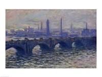 Waterloo Bridge, 1902 Fine Art Print