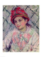 Portrait of Blanche Hoschede (1864-1947) as a Young Girl, 1880 by Claude Monet, 1880 - various sizes, FulcrumGallery.com brand