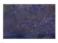 Waterlilies: Reflections of Trees, detail from the right hand side, 1915-26 Fine Art Print