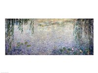 Waterlilies: Morning with Weeping Willows, detail of the central section, 1915-26 Framed Print