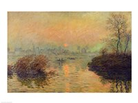 Sun Setting over the Seine at Lavacourt. Winter Effect, 1880 Fine Art Print