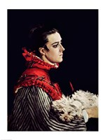 Camille Monet (1847-79) in a Red Cape, 1866 by Claude Monet, 1866 - various sizes