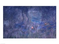 Waterlilies: Reflections of Trees, detail from the central section, 1915-26 Fine Art Print