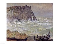 Rough Sea at Etretat