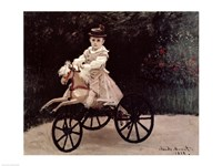 Jean Monet on his Hobby Horse, 1872 by Claude Monet, 1872 - various sizes