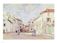 Rue de la Chaussee at Argenteuil Fine Art Print