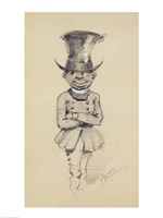Groom in a top hat, 1857 Fine Art Print