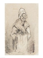 Old Woman from Normandy full face by Claude Monet - various sizes, FulcrumGallery.com brand