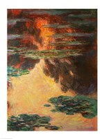 Waterlilies, detail, 1907 by Claude Monet, 1907 - various sizes, FulcrumGallery.com brand