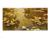 The Lily Pond - yellow by Claude Monet - various sizes