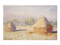 Haystacks, Morning Effect Fine Art Print