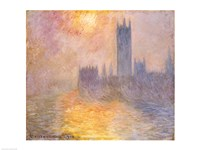The Houses of Parliament, Sunset, 1904 Framed Print