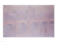 Waterloo Bridge, Hazy Sunshine by Claude Monet - various sizes, FulcrumGallery.com brand