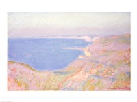 On the Cliffs near Dieppe, Sunset, 1897 by Claude Monet, 1897 - various sizes, FulcrumGallery.com brand