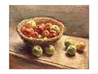 A Bowl of Apples, 1880 Framed Print
