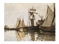 The Port of Honfleur, c.1865 Fine Art Print