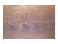 The Thames at London, Waterloo Bridge, 1903 Fine Art Print